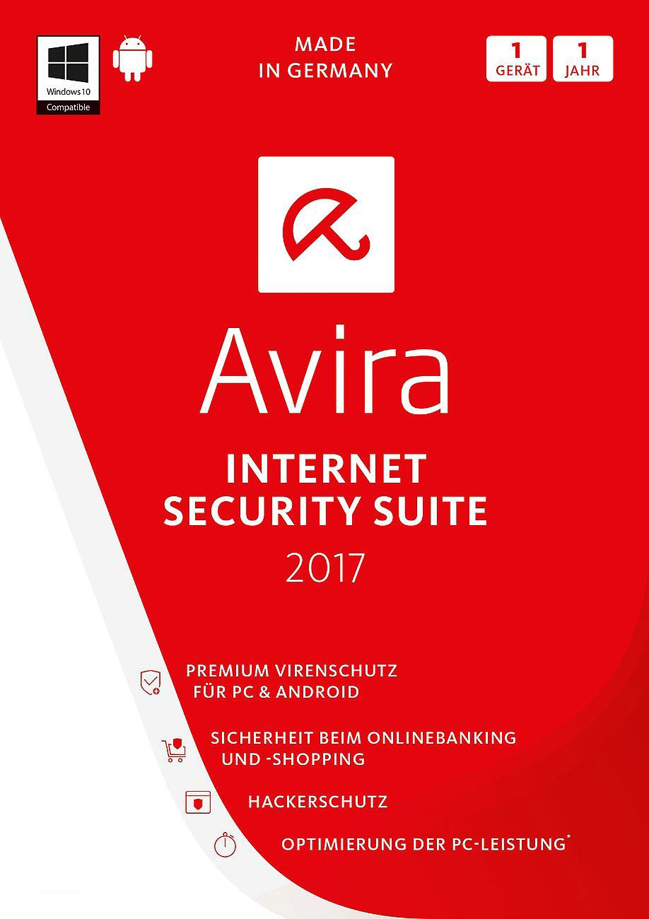 Avira Internet Security Suite 2017 [1 PC / 1 Jahr] CD KEY