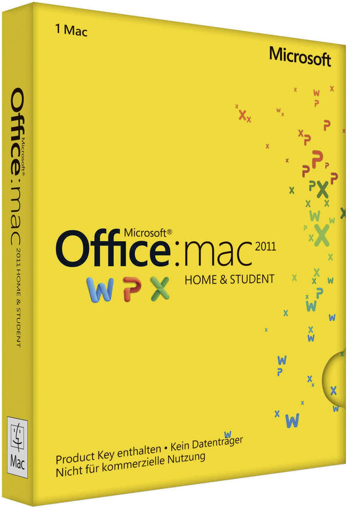 Microsoft Office für Mac - Home and Student 2011 - 1 MAC