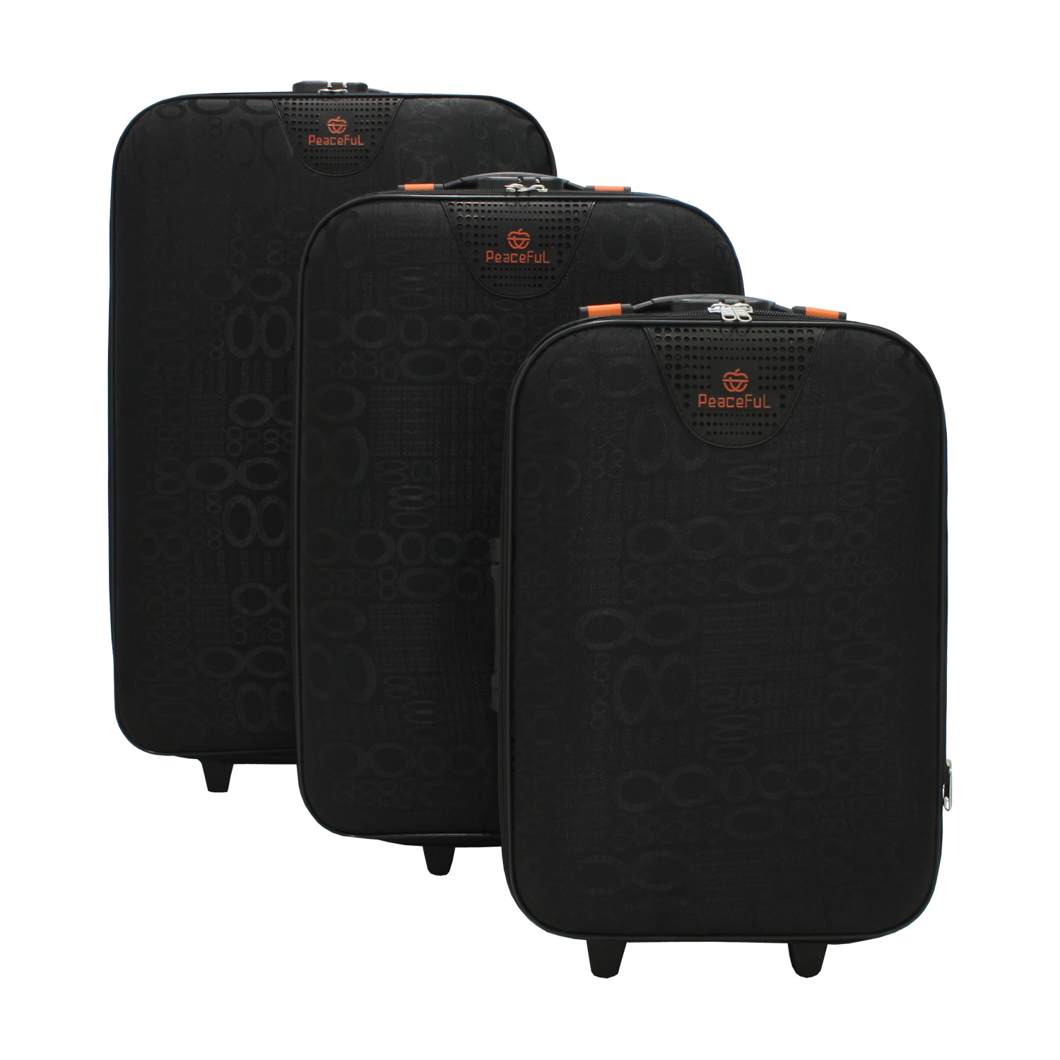 3tlg valesco valises valise de voyage trolley valise sac reiseset trolleyset ebay. Black Bedroom Furniture Sets. Home Design Ideas