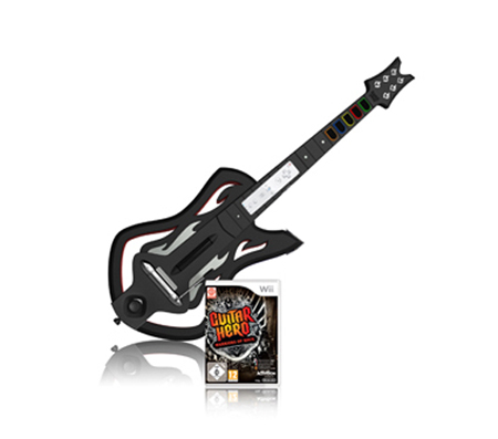Guitar-Hero-6-Warriors-of-Rock-inkl-Gitarre-Bundle-fuer-Nintendo-Wii-NEUWARE