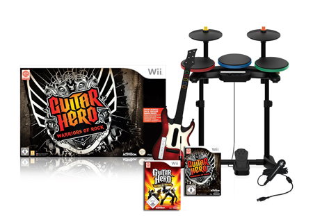 Guitar Hero: Warriors of Rock + World Tour - Super Bundle Wii