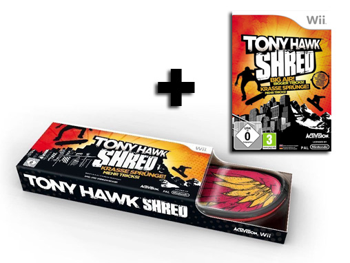 Tony-Hawk-Shred-inkl-Skateboard-Bundle-fuer-Nintendo-Wii-NEUWARE-dt