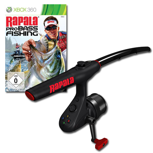 Games xbox 360 rapala pro bass fishing game with rod for Xbox fishing games