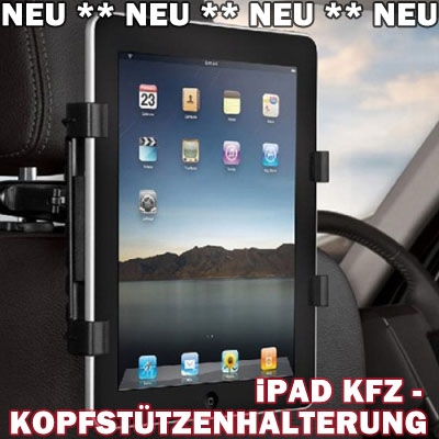 ipad tablet kfz auto kopfst tzen kopfst tze halterung. Black Bedroom Furniture Sets. Home Design Ideas