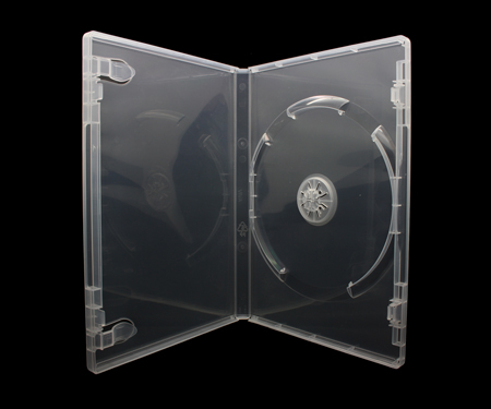 100 x DVD Hüllen für 1 CD / DVD / Blu-Ray [14mm] Transparent