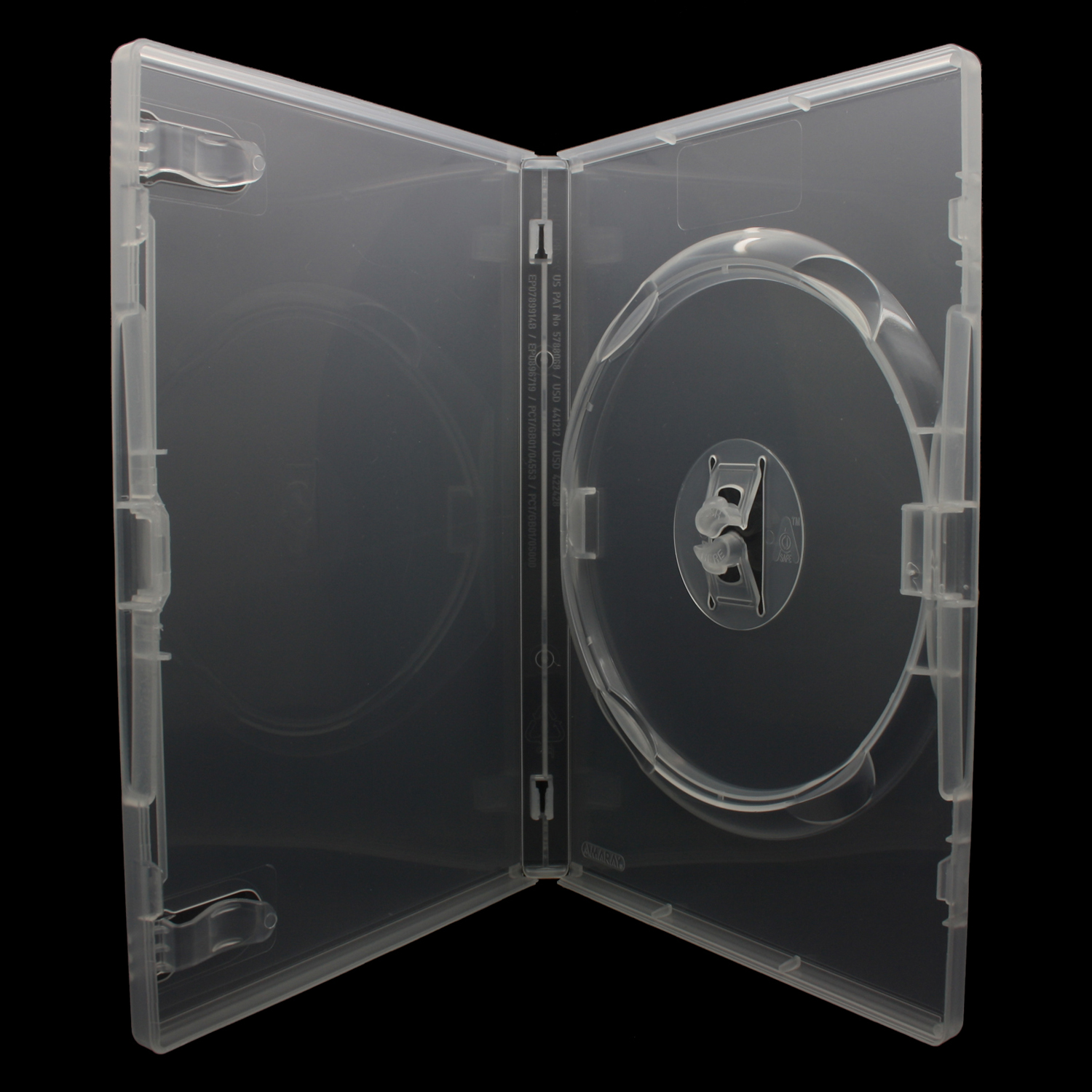100 x AMARAY DVD Hüllen für 1 CD / DVD / Blu-Ray [14mm] Transparent