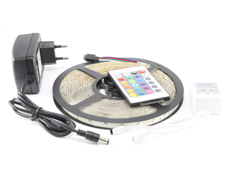 5m RGB SMD LED Strip Band Leiste Komplett Satz