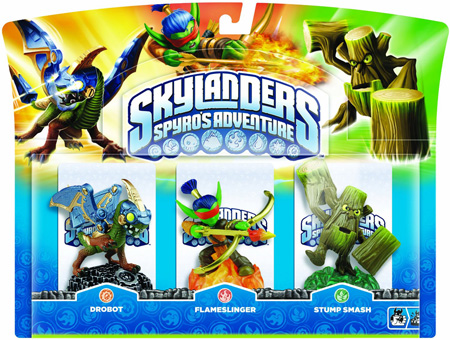 Skylanders: Spyro's Adventure - Drobot + Flameslinger + Stump Smash