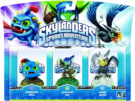 Skylanders: Spyro's Adventure Wrecking Ball + Stealth Elf + Sonic Boom