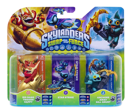 Skylanders: Swap Force - Big Bang Trigger Happy + Star Strike + AA Gill Grunt