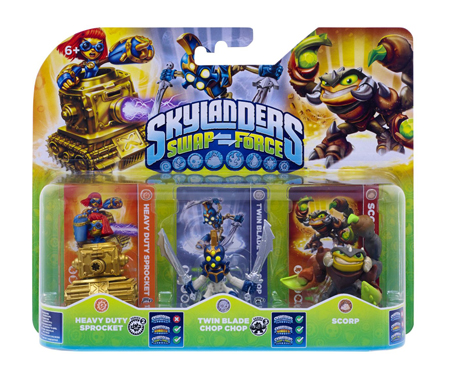 Skylanders: Swap Force - Heavy Duty Sprocket + Twin Blade Chop Chop + Scorp
