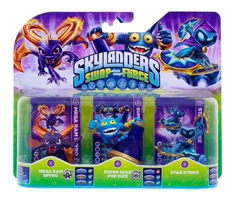 Skylanders: Swap Force - Mega Ram Spyro + Super Gulp Pop Fizz + Star Strike