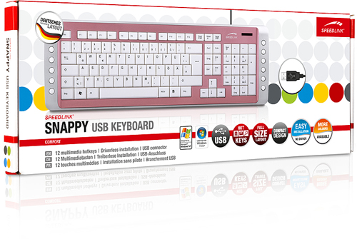 Speedlink Snappy USB Multimedia Tastatur | Pink