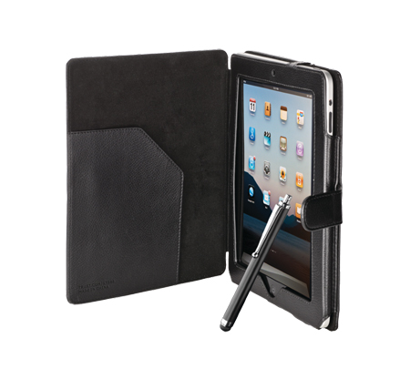 trust 17756 tasche h lle etui mit stift f r apple ipad 1 2 3 4 schwarz ebay. Black Bedroom Furniture Sets. Home Design Ideas