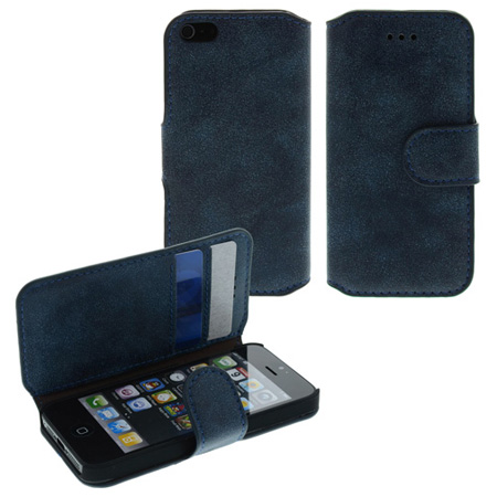 Wallet Case Tasche für Apple iPhone 5 | 81519 Blau