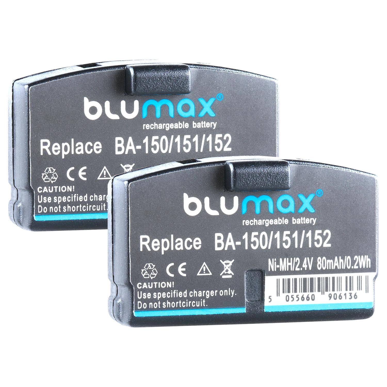 2x Akku für Sennheiser BA150 BA151 BA152 |65161| 2,4V / 80mAh / Ni-MH