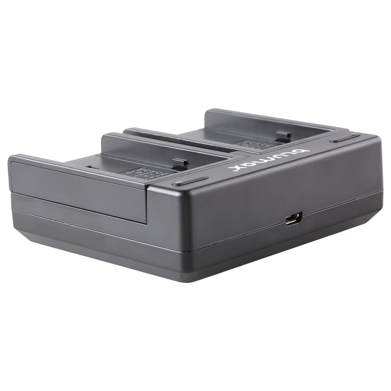 Bateria dual cargador para Sony np-f330 np-f530 np-f730 np-f770 np-fm55h 90302