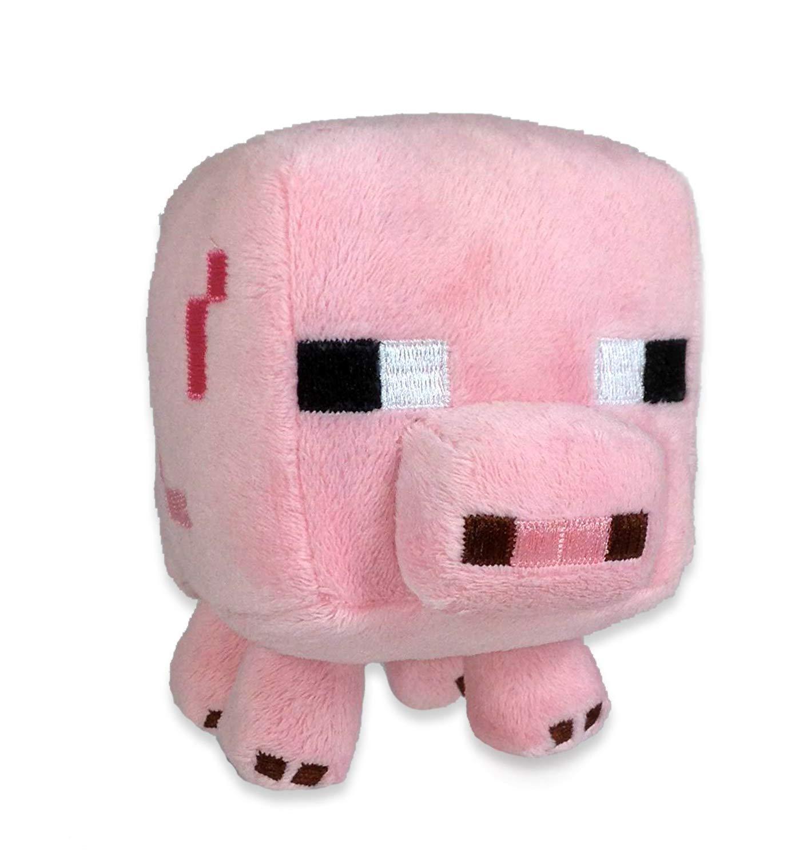 Original Minecraft - Plüsch Figur Stofftier 15-25 cm | Creeper Enderman usw. Baby Schwein