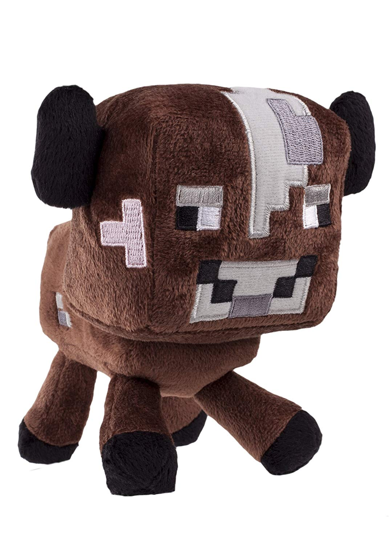 Original Minecraft - Plüsch Figur Stofftier 15-25 cm | Creeper Enderman usw. Baby Kuh