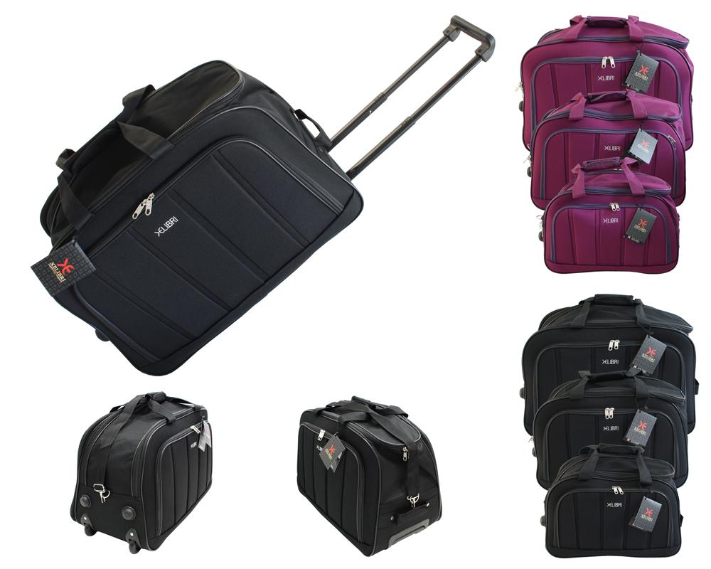 3 tlg. XELIBRI Reisentasche Sporttasche mit Rollen
