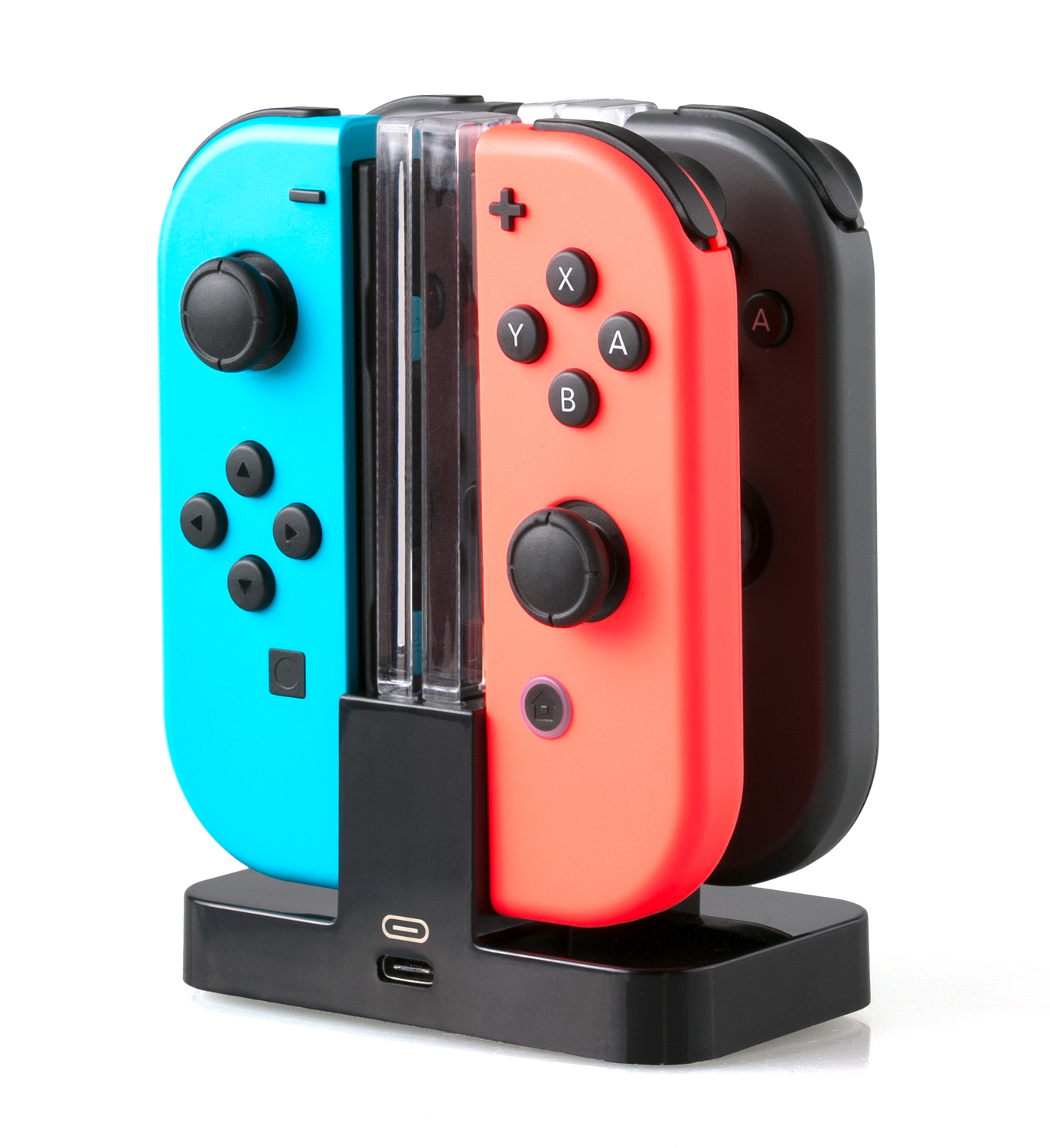 SKGAMES Joy-Con Controller Ladestation für Nintendo Switch | Schwarz