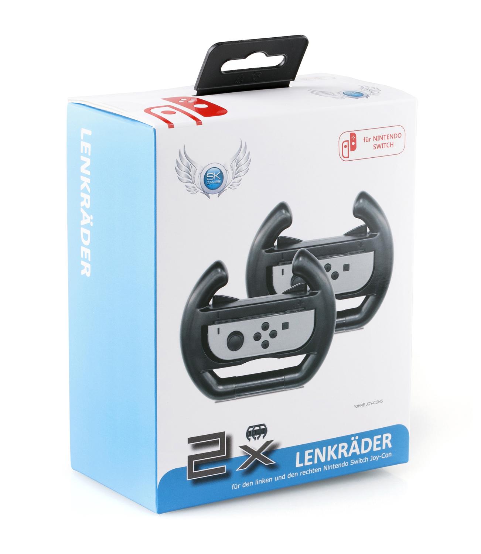 SKGAMES Joy-Con Lenkrad (2 Stück) für Nintendo Switch | Schwarz
