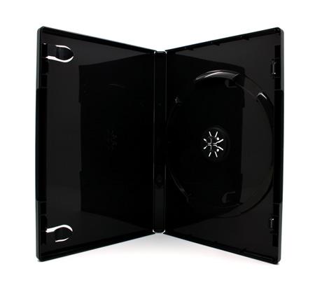 100 x DVD Hüllen für 1 CD / DVD / Blu-Ray [14mm] Schwarz