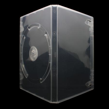 25 x 1 fach dvd h llen f r 1 cd dvd blu ray h lle 14mm transparent klar ebay. Black Bedroom Furniture Sets. Home Design Ideas