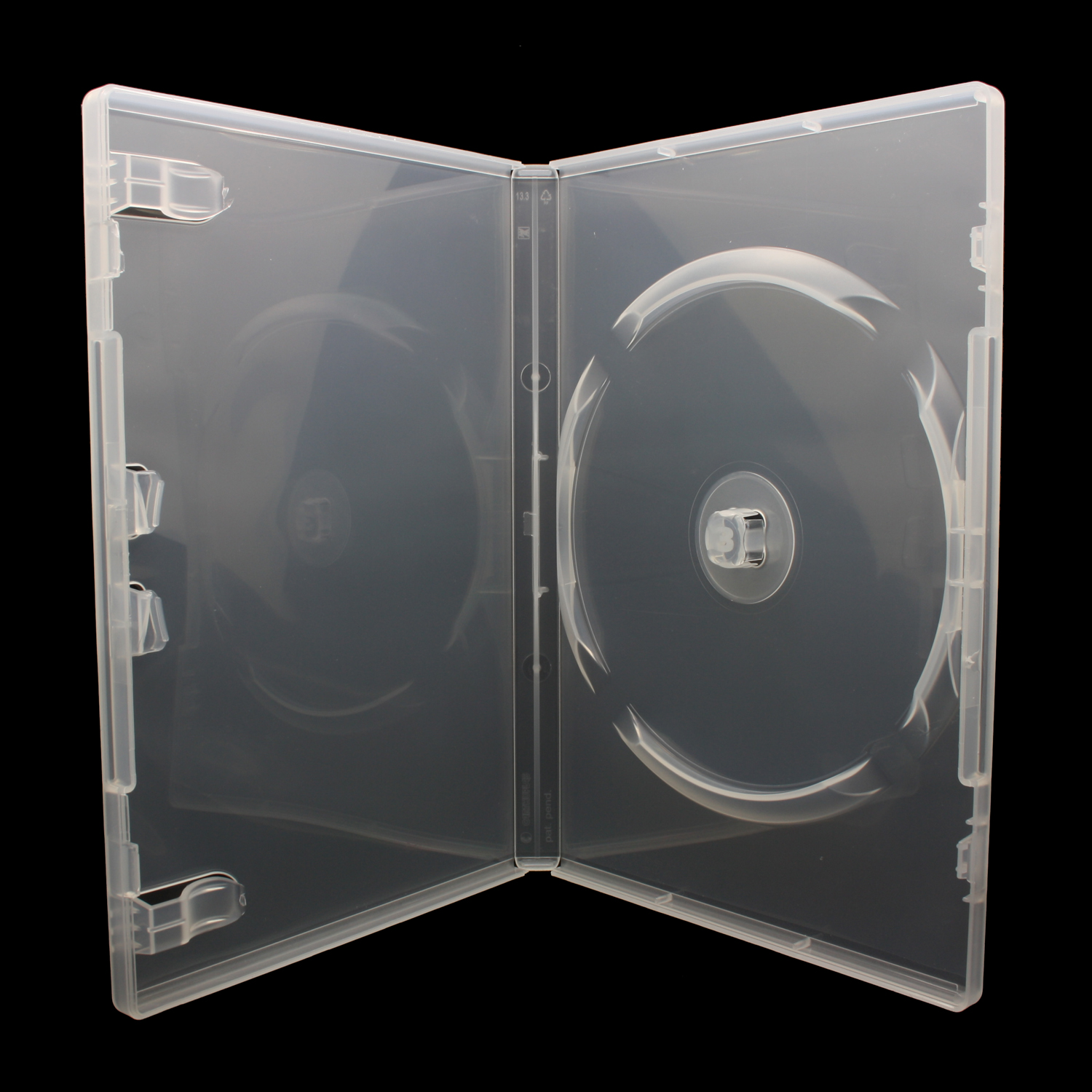 100 x FLEXBOX DVD Hüllen für 3 CD / DVD / Blu-Ray [14mm] Transparent