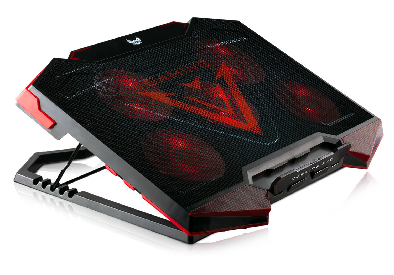 SK-110 Notebook Laptop Kühler | 5 x LED Lüfter | 2 x USB | Schwarz