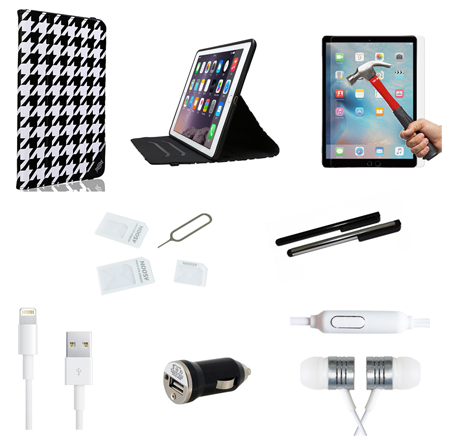 9 teiliges apple ipad air 2 zubeh r set pack paket. Black Bedroom Furniture Sets. Home Design Ideas