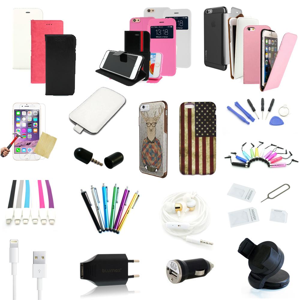 40 teiliges apple iphone 6 zubeh r paket set 40 teile. Black Bedroom Furniture Sets. Home Design Ideas